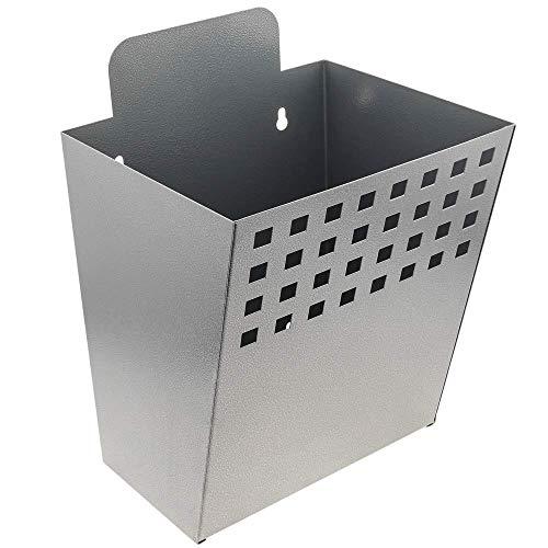 PrimeMatik - Metalen container voor wandmontage. Brievenbus voor tijdschriften en kranten. Grijze kleur