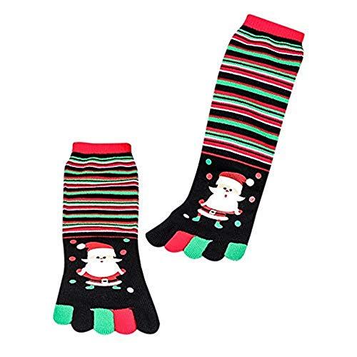 Dasongff Unisex 1 Paar Weihnachtssocken Zehensocken Fingersocken Weihnachtsmotiv Weihnachten Socken Warme Wintersocke Christmas stockings vielfarbig für Damen und Herren