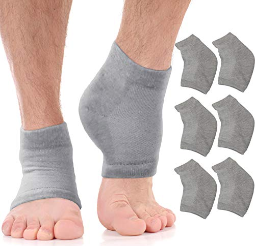 Moisturizing Socks Cracked Heel Treatment - Treat Dry Feet & Heels Fast. Pain Relief from Cracking Foot Skin with Aloe Moisturizer Lotion Infused Gel Heel Socks. Pedicure for Both Women & Men (Large)