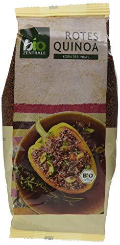 biozentrale Quinoa Bio Rot | 400g Quinoa Samen Bio | Reis, Chia Samen & Leinsamen Alternative