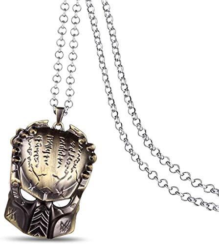 Negozio di collane da uomo Anime Alien Predator Horror Testa di robot Collane con ciondolo in metallo Catena in lega Accessori per gioielli Per fan