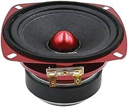 """Sponsored Ad - DS18 PRO-X4.4BM Loudspeaker - 4"""", Midrange, Red Aluminum Bullet, 200W Max, 100W RMS, 4 Ohms - Premium Quali... photo"""