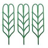 TOPofly Support pour Plante Trellis Plante en Pot Escalade de Soutien intérieur Forme des Feuilles en Plastique Vert Croissance 3PCS
