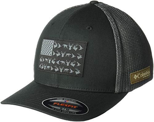Columbia Unisex PHG Mesh Ball Cap, Black, PHG Flag, Small/Medium