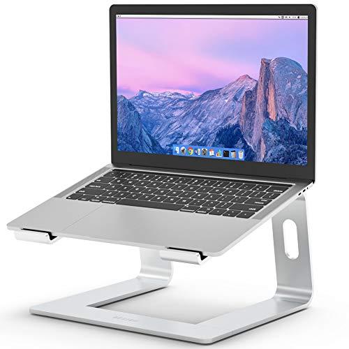 """Besign LS03 Laptop ständer aus Aluminium, ergonomischer Notebook-Ständer, Laptop ständer kompatibel mit Air, pro, Dell, HP, Lenovo und Anderen 10-15,6\"""" Laptops (Silber)"""