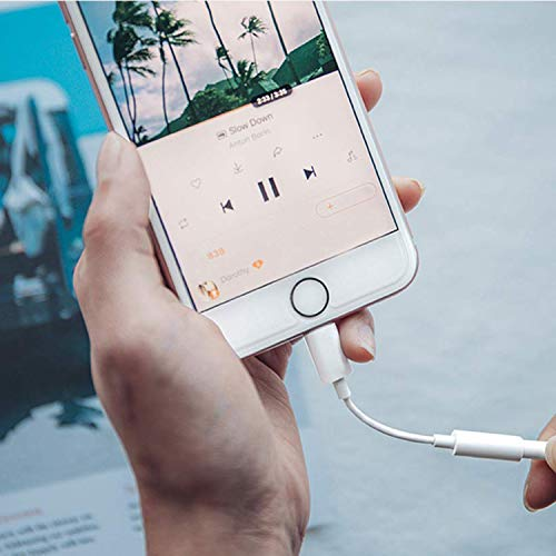 Headphone Jack Adapter Lἱghtning to 3.5mm AUX Audio Splitter for iPhone Adapter Dongle Music Jack Connector car Cable for iPhone 11/7/7Plus/8/8Plus/XS/XR/X/iPad/iPod Supports iOS 11-13 and Better