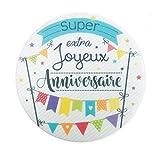 ScrapCooking Disque Azyme Joyeux Anniversaire 15 cm Party