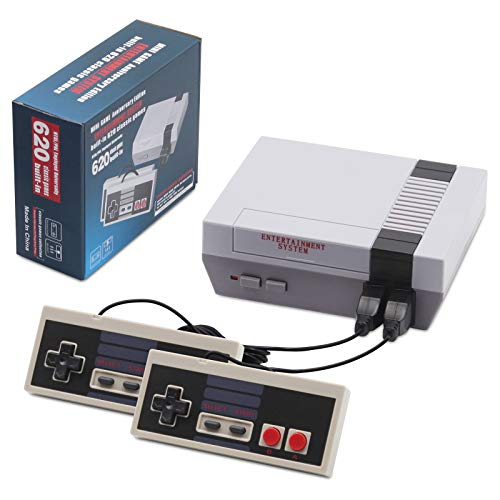 Classic Mini NES Retro Game Console, AV Output Game Console Built-in 620 Games with 2 Classic...