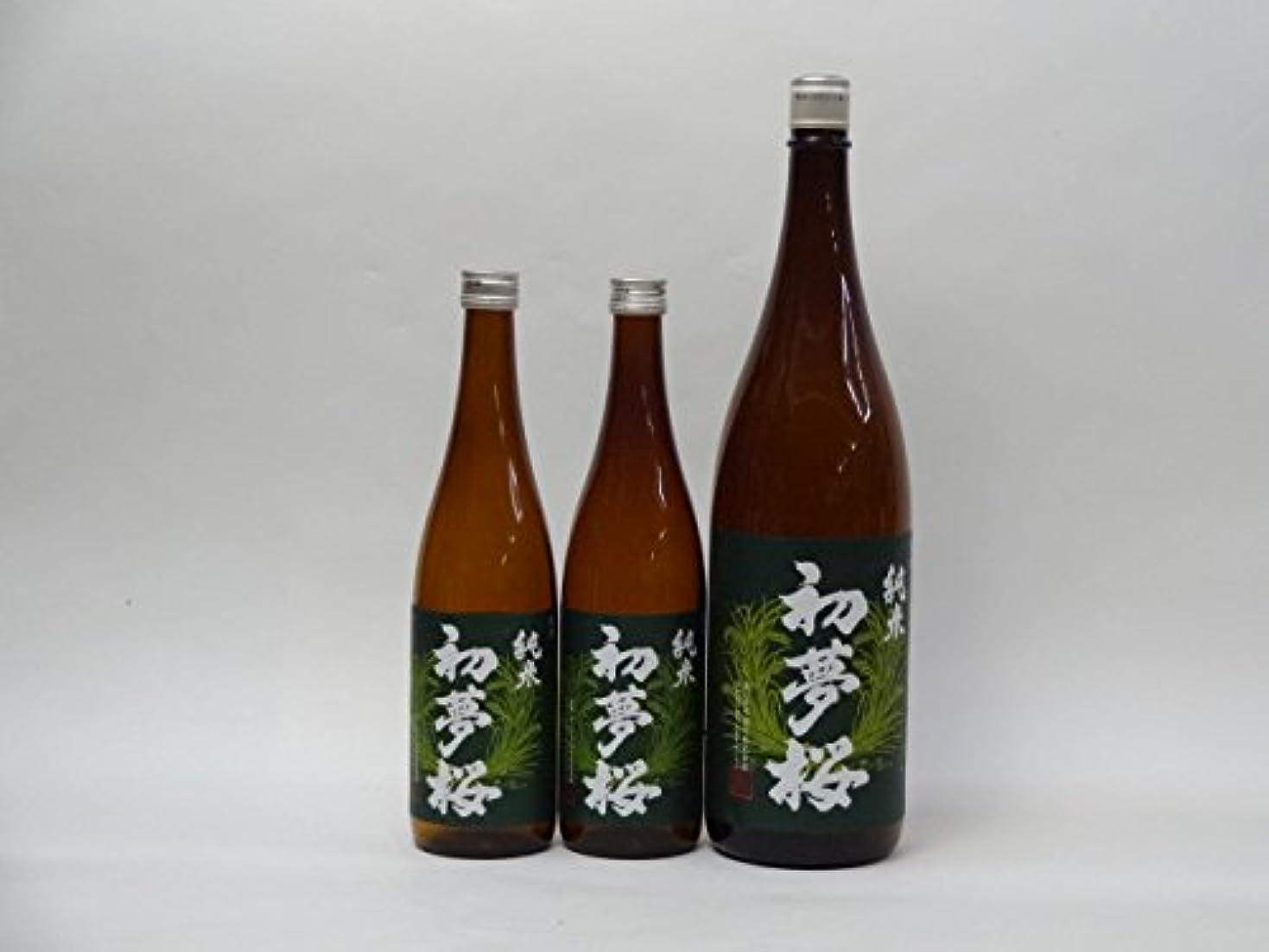 特選日本酒セット 初夢桜 2本セット(純米720ml×2本 1800ml×1本)3本セット 金しゃち酒造