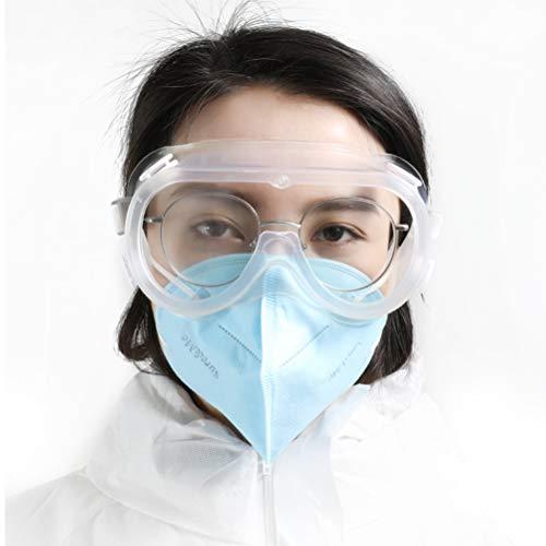 Kylewo veiligheidsbril werkbril voor brildragers, hoge slagvastheid voor bouwplaatsen, decoratie, werkplaatsen en stofdicht/licht, transparant, 1 stuks
