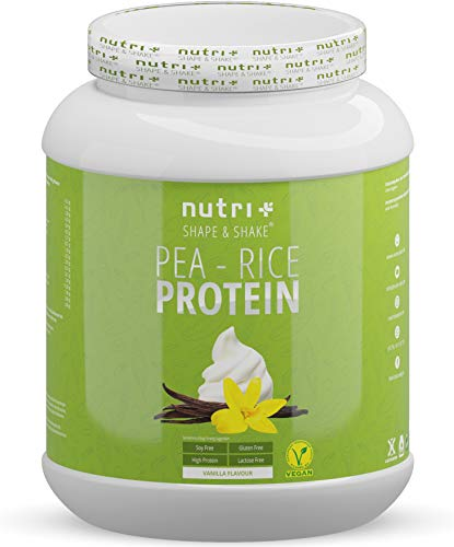 Pea Protein - Rice Protein Vanilla 1kg - Plant Based Drink with All Essential Amino acids - Vegan Pea-Rice Protein Powder Without Soy, Sugar, Lactose, Gluten