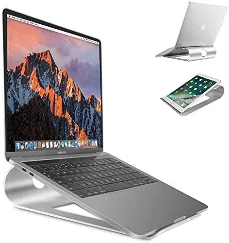 """FitOkay Supporto PC Portatile, Supporto Notebook Computer Alluminio Supporto per MacBook Air Pro, Asus, Lenovo, dell XPS, HP, Samsung Chromebook Huawei Matebook 10-15"""" Tablet Supporto Laptop Stand"""