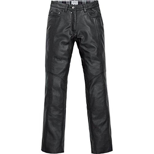 Spirit Motors Motorrad Jeans Motorradhose Motorradjeans Damen Klassik Lederjeans 1.0 schwarz 42, Chopper/Cruiser, Sommer