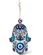 MYSTIC JEWELS - Wanddecoratie in de vorm van Hamsa (hand van Fatima) van glas voor gezondheid en succes in huis.