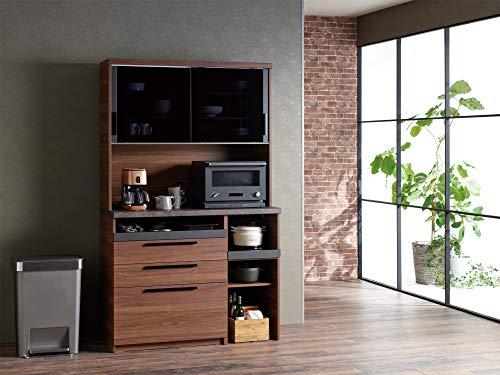 パモウナ食器棚SYウォールナット幅120×高さ198×奥行45日本製SY-S1200R