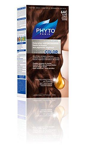 Phyto Color Coloration Soin Permanente Haute Brillance aux Pigments Végétaux - N°6AC : Blond Foncé Acajou Cuivré