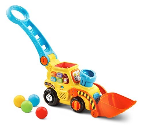 VTech Pop-a-Balls Push & Pop Bulldozer,Yellow
