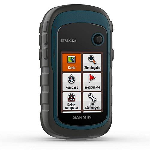 Garmin eTrex 22x – robustes, wasserdichtes GPS-Outdoor-Navi mit 2,2' (5,6 cm) Farbdisplay mit Tastenbedienung, vorinstallierter TopoActive-Europakarte und 25 Std Akkulaufzeit