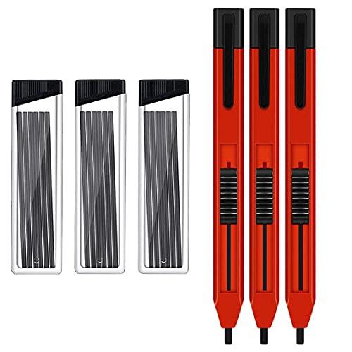 Obelunrp Carpintero lápiz mecánico construcción Madera Dibujo lápiz Conjunto práctico Marca Herramienta de Mano Herramienta de Bricolaje