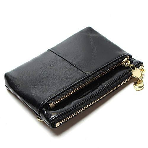 XCWQ portemonnee voor dames, echt leer, mini-brievenbus voor creditcards