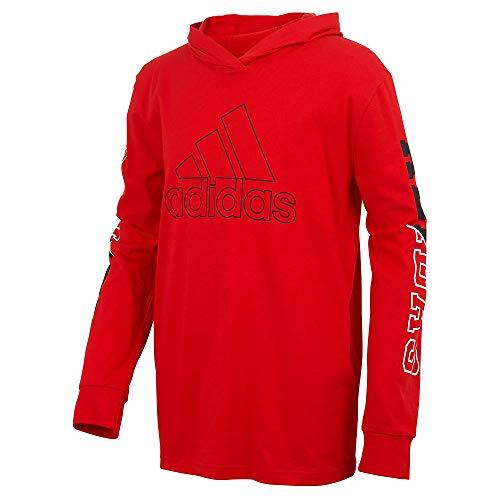 adidas Boys' LS Collegiate Tee L Scarlet-Black