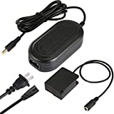 PowEver DMW-DCC8 Plus DMW-AC8 Camera AC Adapter Power Supply Replacement of DMW-BLC12 Battery for Panasonic DMC-FZ200 FZ300 FZ1000 FZ2500, DMC-GH2, DMC-G5 G6 G7 G85 GX8, Lumix DC-G90 G95 Cameras