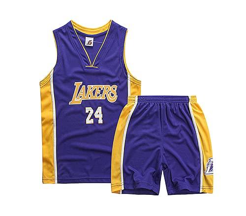 TYTF - Conjunto de camiseta de baloncesto sin mangas para niño, de malla, uniforme de camiseta y pantalón corto, para verano, de 1 a 15 años