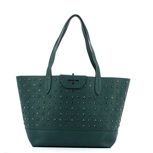 PATRIZIA PEPE Borsa Shopping New Stars Green 2V7193 A4E9