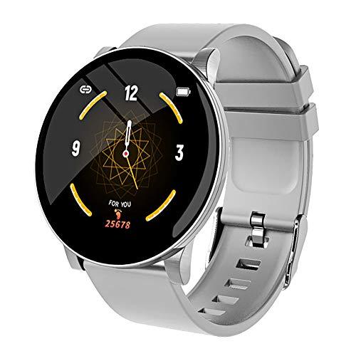 ShengYaJu W8 Smartwatch für Herren und Damen, Fitnessarmbänder, Herzfrequenzmesser, Smartwatch, IP67, wasserdicht, Sportuhr für iPhone und Android-Handys, grau
