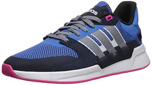 adidas Women's Run90s Running Shoe, True Blue/Grey/White, 10 M US