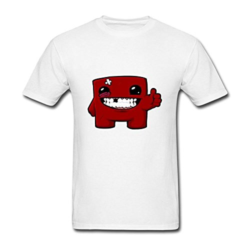 HF-welling Men's Super Meat Boy Logo Short Sleeve T-Shirt