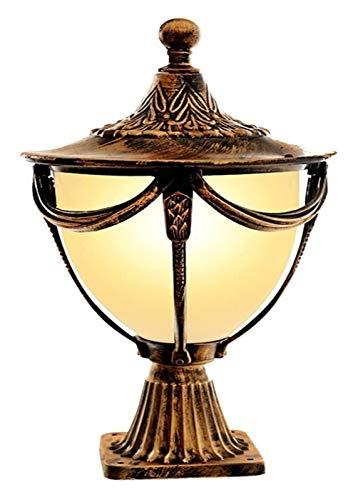 LWJPP Faros post-columna estadounidense al aire libre Linterna impermeable Luz de puerta E27 Patio jamba de la lámpara del césped del jardín Permanente luz del patio