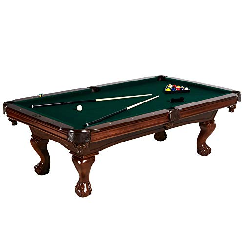 Barrington Hawthorne 100 Inch Billiard Table Set with Cues, Rack, Balls, Brush, and Chalk (23 Pieces)