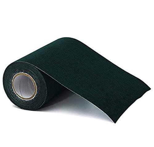 Cafopgrill 2 Colori 150mm * 10m Nastro Adesivo Nastro di Erba Sintetica Tappeto erboso Tappeto erboso Tappeto erboso(Nero)