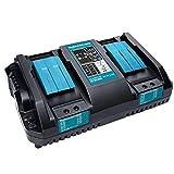 Cargador de batería rápida de Makita DC18RD 14.4V-18V Cargador de reemplazo de puerto dual para makita Herramientas y accesorios de batería de iones de litio