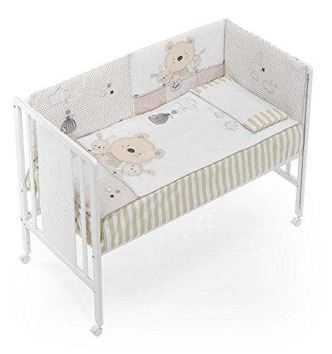 (VARIOS MODELOS) Funda Nórdica con relleno + protector + almohada MAXICUNA Osito color BLANCO/BEIGE, tamaño MAXICUNA 70 x 140