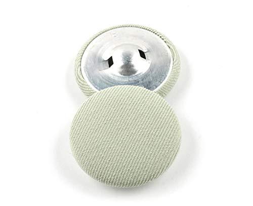 DINGM 10 unids/Lote botón de Tela Redondo pequeño Traje Abrigo de Lana Abrigo Femenino suéter de Cachemira Camisa Decorativa Negro