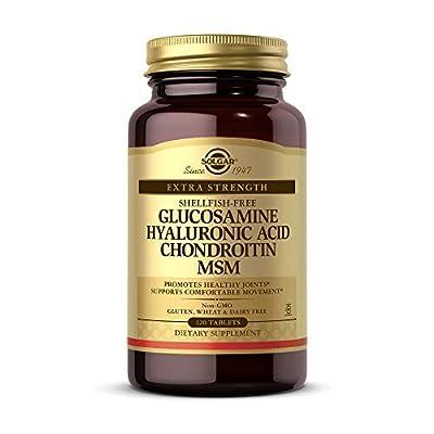 Solgar Glucosamin Hyaluronsäure Chondroitin MSM Tabletten, 120Zählen
