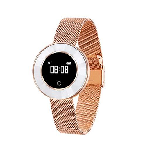 Reloj de señora de cerámica Inteligente, Correa de Acero IP68 Pulsera Impermeable, información Push, recordatorio Inteligente, análisis de sueño, Paso
