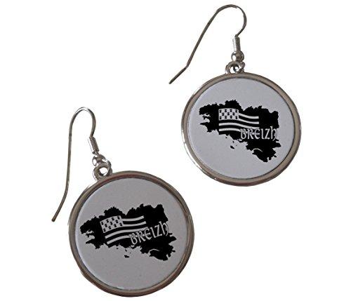Kdomania-Pendientes de plata y negro