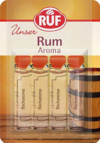 RUF Backaroma Rum zum Aromatisieren von 500g Teig oder 500ml Flüssigkeit, 20er Pack (20 x 4 x 2g Packung)