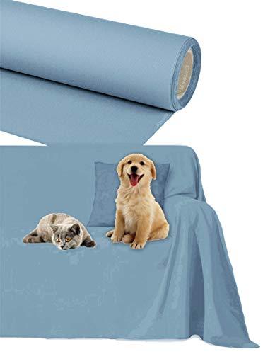 Salva Divano GranFoulard Copridivano IMPERMEABILE 3 4 2 Posti o su Misura in Cotone per Cani Gatti Animali Bambini Lavabile Teli Arredo Copritutto Divano Penisola (A v i o, 2/3 posti 300 x 300 cm)
