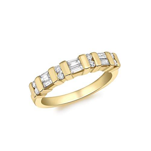 Carissima Gold - 7.48.2383 - Anillo de oro amarillo de 18K con diamantes, talla 16.5