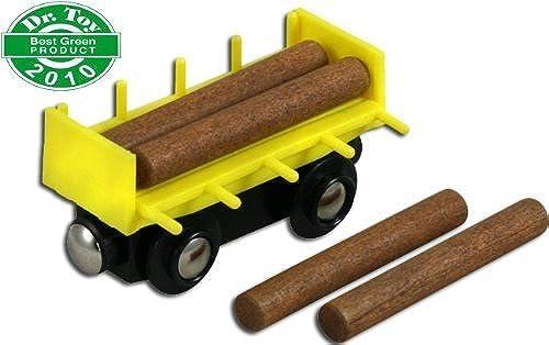 diseños exclusivos Li'l Chugs Wooden Train Log Freight Car by WowToyz WowToyz WowToyz  la mejor selección de
