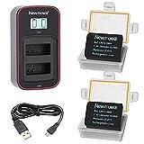 Newmowa LP-E12 Batería de Repuesto (Paquete de 2) y Cargador USB Dual...