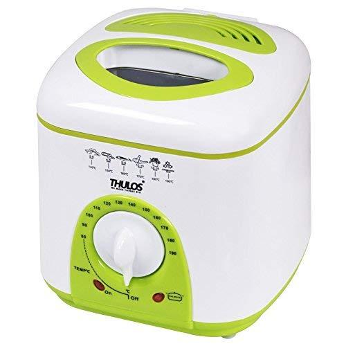Thulos Nueva freidora eléctrica con Capacidad de 1 litro de Aceite, termostato y 950W TH-FR10.