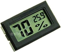 Besttse - Termómetro de higrómetro Digital LCD con medidor de Temperatura de Humedad 10% ~ 99% RH, Negro