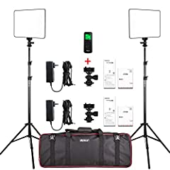 Light Kit Contents: 2 * VL-200 Video Light + 2 * Power Adapter + 2 * Power Cable + 2* 26inches-75inches Adjustable Light Stand + 2 * Hot Shoe Adapter + 1 * Wireless Remote Control + 1 * Carry Case. Note: Battery Not Included. Two Power Options& Wirel...