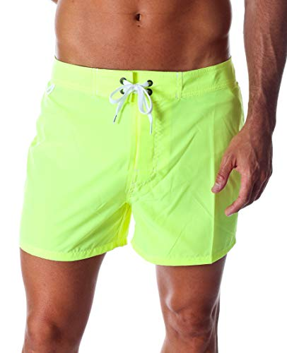 Sundek BS/RB-Low Rise Pantaloncini da Bagno Uomo - Giallo, 34
