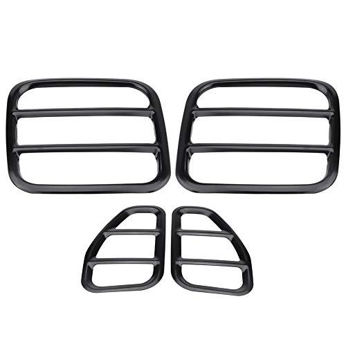 ANGGO Protezione della protezione della lampada del fanale posteriore in metallo da 4 pezzi per Jeep Renegade